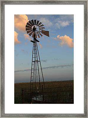 Wind For Water Framed Print by Tony Grider