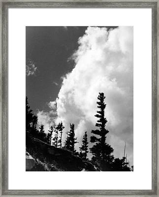 Wind Formed Framed Print