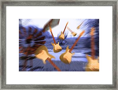 Wind Guitars Framed Print