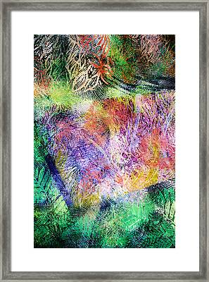 Wind In The Forest Framed Print by Sue Reed