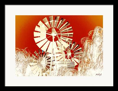 Burnt-orange Framed Prints