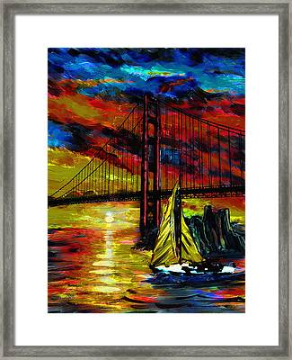 Wind Meets Sail Framed Print by Dale Nielsen