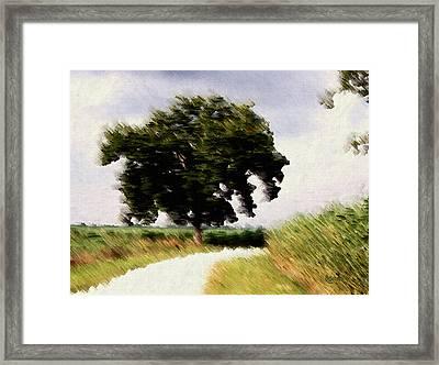 Wind Motif Old Dam Road Framed Print