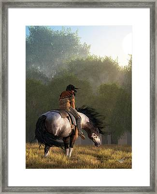 Wind Of The Forest Framed Print by Daniel Eskridge
