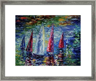 Wind On Sails  Framed Print by Art OLena