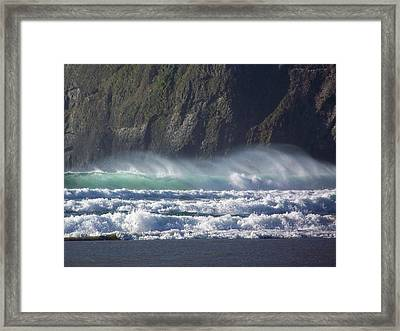Wind On The Waves Framed Print