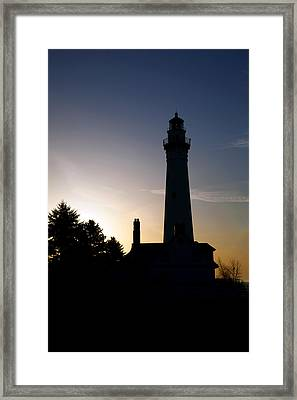 Wind Point Framed Print