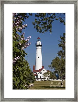 Wind Point Lighthouse - D009826 Framed Print by Daniel Dempster