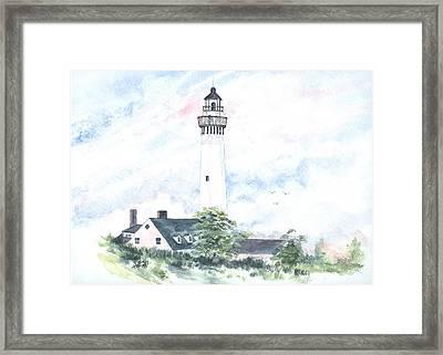 Wind Point Lighthouse Framed Print by Denise   Hoff