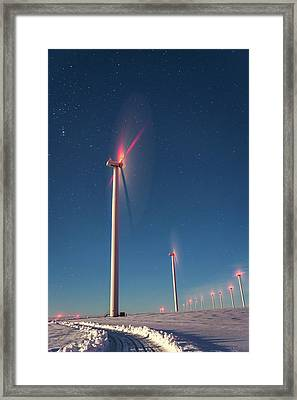 Framed Print featuring the photograph Wind Power by Cat Connor