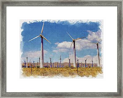 Wind Power Framed Print by Ricky Barnard