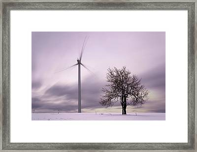 Wind Power Station, Ore Mountains, Czech Republic Framed Print