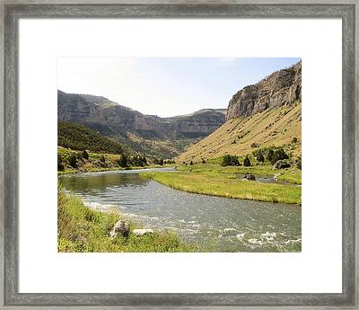 Wind River Canyon 1 Framed Print