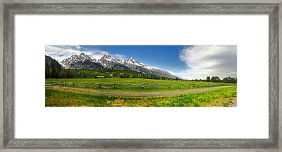 Wind River Range In West Central Wyoming - 04 Framed Print