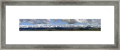 Dm9504-wind River Range Panorama  Framed Print