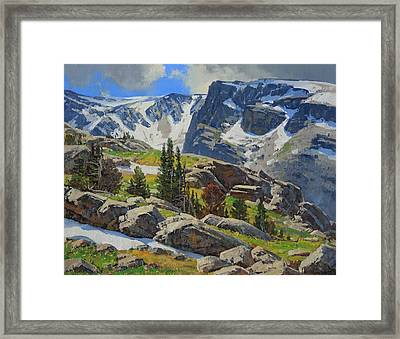 Wind River Range-wyoming Framed Print by Lanny Grant
