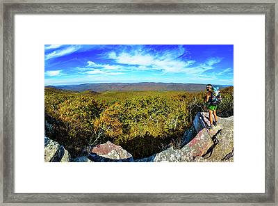 Wind Rock Panorama Framed Print