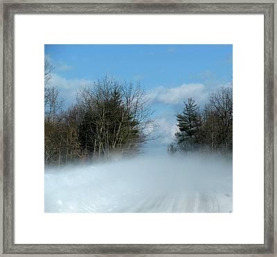 Wind Rushs In Framed Print by Debra     Vatalaro