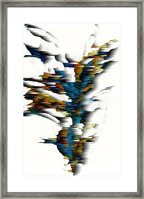 Framed Print featuring the painting Wind Series 08.072311wscvss by Kris Haas