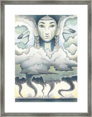 Wind Spirit Dances Framed Print