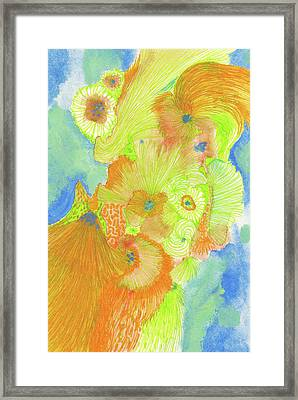 Wind - #ss18dw013 Framed Print by Satomi Sugimoto