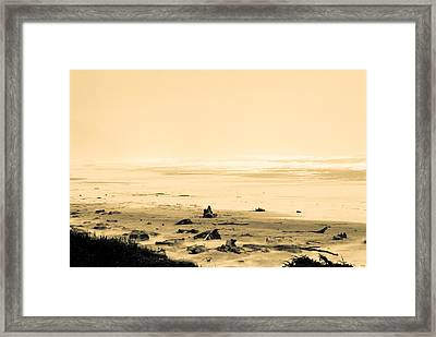 Framed Print featuring the photograph Wind Storm On The Beach by Craig Perry-Ollila