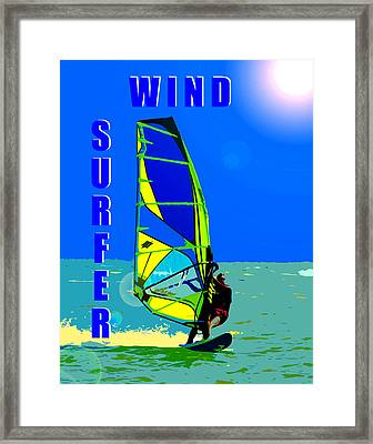 Wind Surfer Poster Framed Print by David Lee Thompson