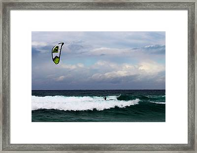 Wind Surfing Surfer's Paradise Framed Print by Susan Vineyard