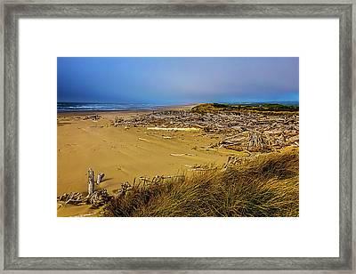 Wind Swept Beach Framed Print by Garry Gay