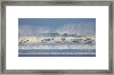 Framed Print featuring the photograph Wind Swept Waves by Nicholas Burningham