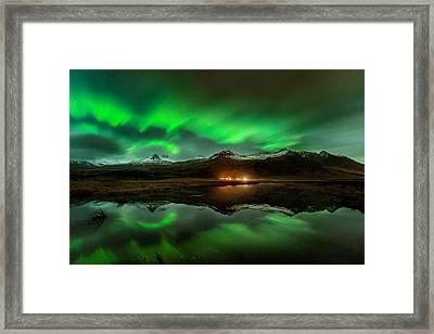Wind To Northern Ligths Framed Print by David Martin Castan