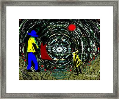 Framed Print featuring the digital art Wind Tunnel by Elaine Lanoue