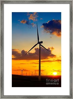 Wind Turbines Framed Print by Gabriela Insuratelu