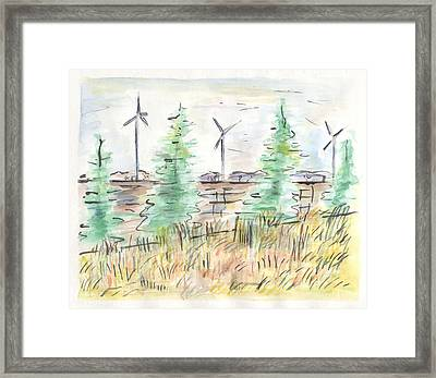 Wind Turbines Framed Print by Matt Gaudian