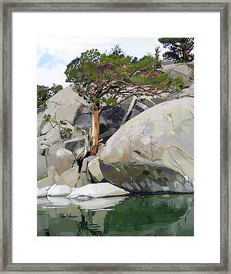 Wind, Water And Granite Framed Print