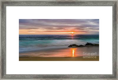 Windansea Beach At Sunset Framed Print