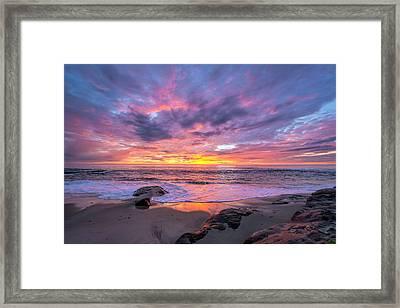 Windansea Beach Sunset Framed Print