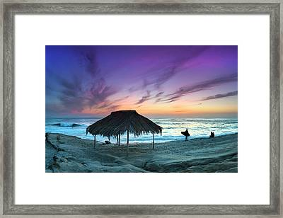 Windansea Shadowland Framed Print by Sean Davey