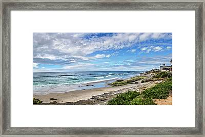 Framed Print featuring the photograph Windansea Wonderful by Peter Tellone