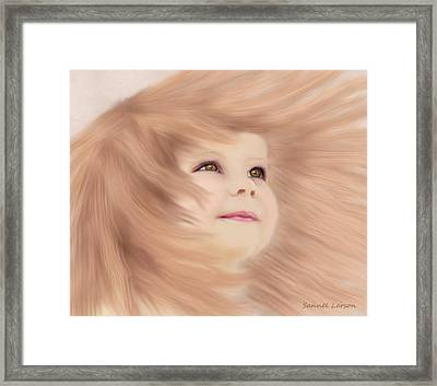 Windblown Child's Play Framed Print