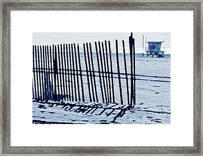 Windbreake On The Beach 4 Framed Print by Micah May