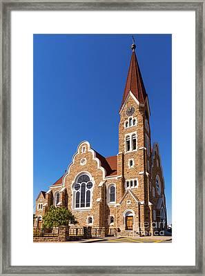 Windhoek Christ Church Framed Print by Inge Johnsson