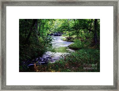 Winding Creek At Chickasaw National Recreation Area In Horizontal Framed Print by Tamyra Ayles