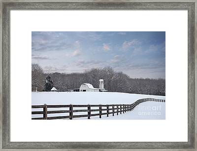 Winding Fence Farm Framed Print by Benanne Stiens