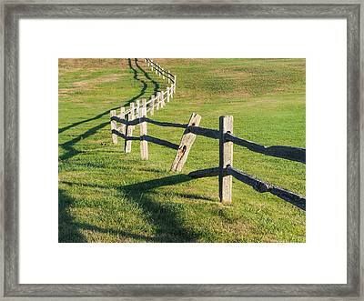 Winding Fences Framed Print