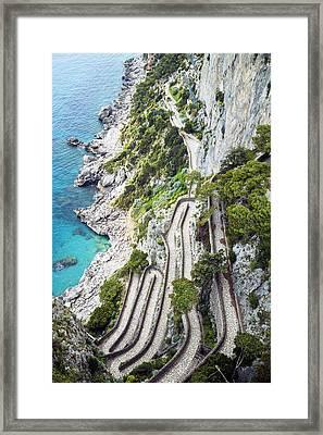 Winding Road Framed Print by Joana Kruse