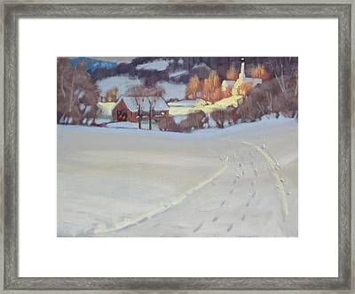 Winding Road Framed Print by Len Stomski
