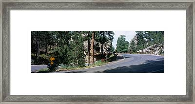 Winding Road Sd Framed Print by Panoramic Images
