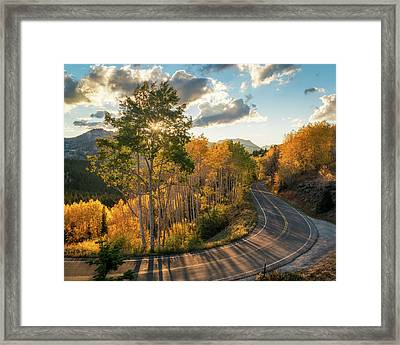 Winding Road Through Big Cottonwood Canyon Framed Print by James Udall