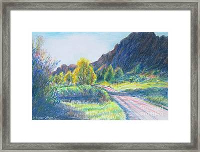 Winding Roads Framed Print by Stephanie  Skeem